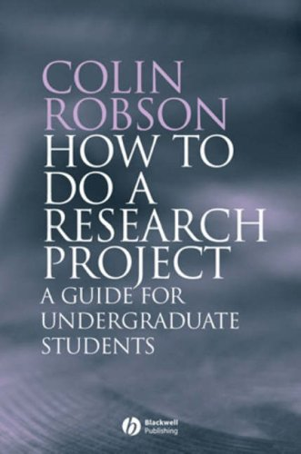 How to Do a Research Project A Guide for Undergraduate Students  2007 edition cover