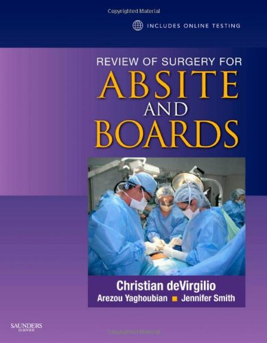 Review of Surgery for ABSITE and Boards   2010 edition cover
