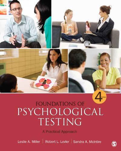 Foundations of Psychological Testing A Practical Approach 4th 2013 edition cover
