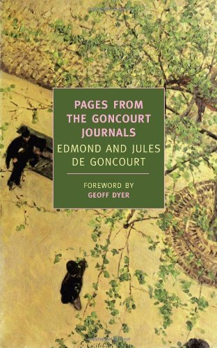 Pages from the Goncourt Journals   2006 edition cover