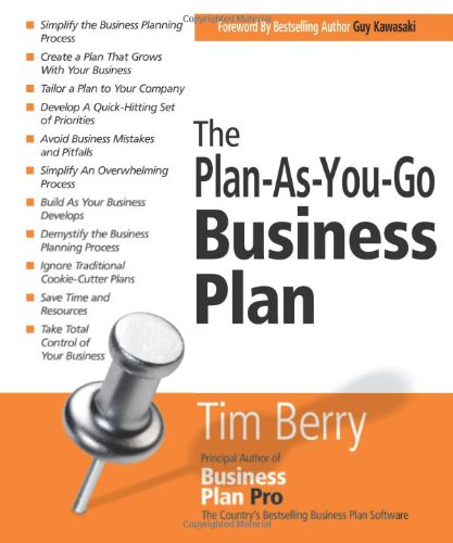 Plan-as-You-Go Business Plan   2008 edition cover