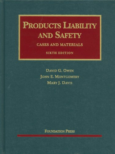 Products Liability and Safety  6th 2010 (Revised) edition cover