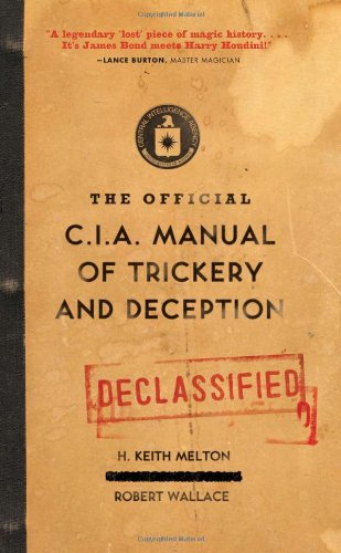 Official C.I.A. Manual of Trickery and Deception  N/A edition cover