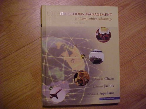 Operations Management for Competitive Advantage 11th 2006 edition cover