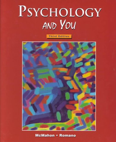 Psychology and You  3rd 2000 (Student Manual, Study Guide, etc.) edition cover