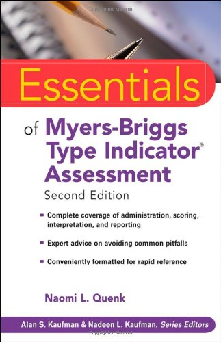 Essentials of Myers-Briggs Type Indicator Assessment  2nd 2009 edition cover