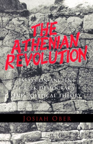 Athenian Revolution Essays on Ancient Greek Democracy and Political Theory  1999 edition cover