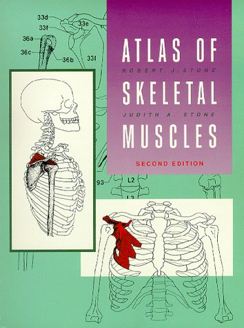 Atlas of the Skeletal Muscles 2nd 1997 edition cover