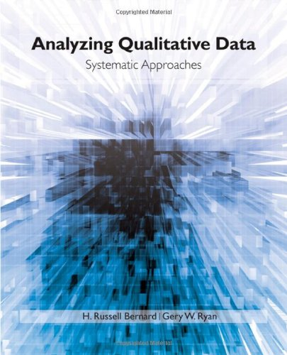 Analyzing Qualitative Data Systematic Approaches  2010 edition cover