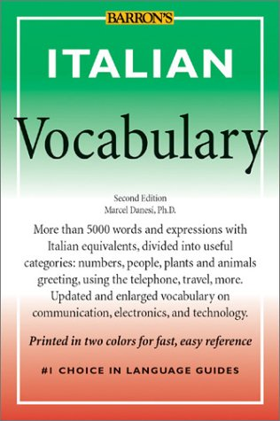 Italian Vocabulary  2nd 2003 9780764121906 Front Cover