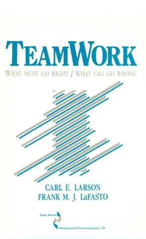 Teamwork What Must Go Right - What Can Go Wrong  1989 edition cover