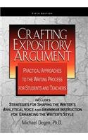 Crafting Expository Argument Practical Approaches to the Writing Process for Students and Teachers 5th 2012 edition cover