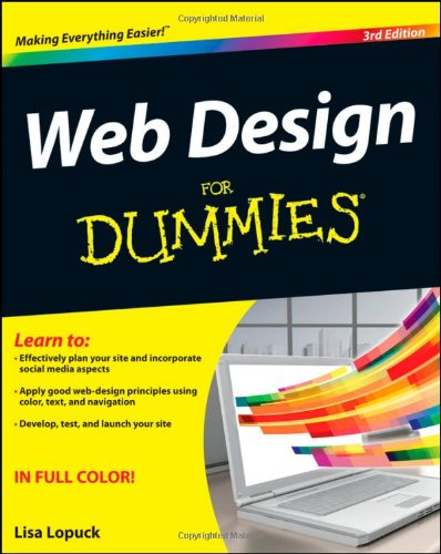Web Design for Dummies  3rd 2012 9781118004906 Front Cover