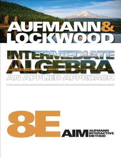 Intermediate Algebra An Applied Approach 8th 2011 edition cover