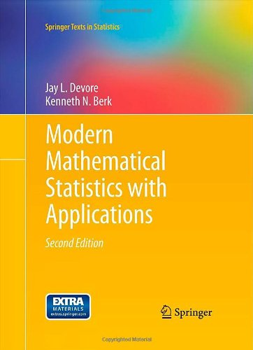 Modern Mathematical Statistics with Applications  2nd 2012 edition cover
