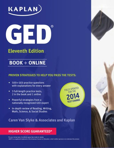 New GED� Test Strategies, Practice, and Review with 2 Practice Tests  11th (Revised) edition cover
