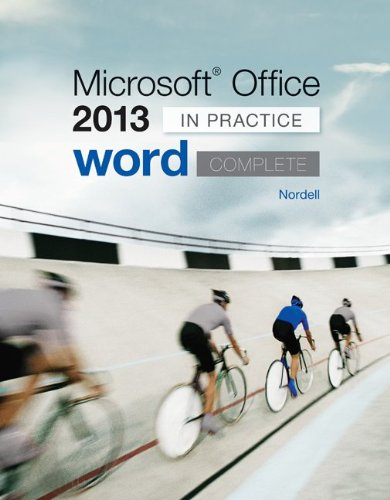 Microsoft Office Word 2013 Complete: in Practice   2014 edition cover