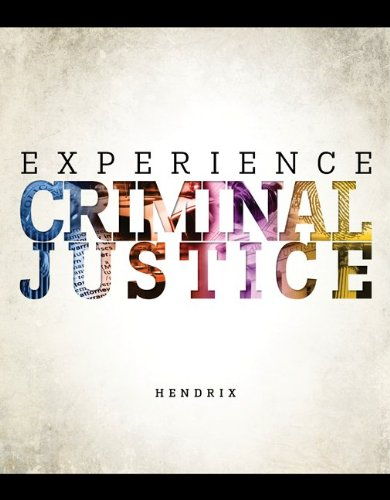 Experience Criminal Justice   2014 edition cover