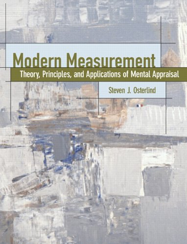 Modern Measurement Theory, Principles, and Applications of Mental Appraisal  2006 edition cover
