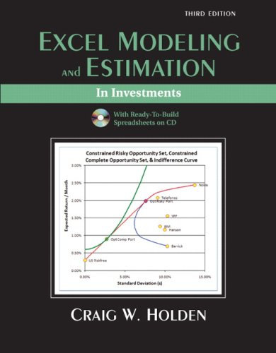 Excel Modeling in Investments  3rd 2009 9780132079907 Front Cover