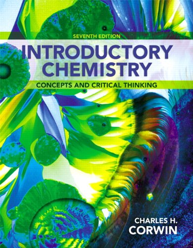 Introductory Chemistry Concepts and Critical Thinking 7th 2014 edition cover