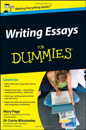 Writing Essays for Dummies   2009 9780470742907 Front Cover