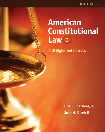 American Constitutional Law Civil Rights and Liberties 5th 2012 edition cover