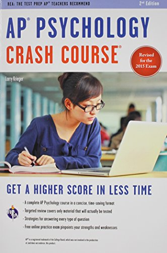 AP� Psychology Crash Course Book + Online  2nd (Revised) 9780738611907 Front Cover