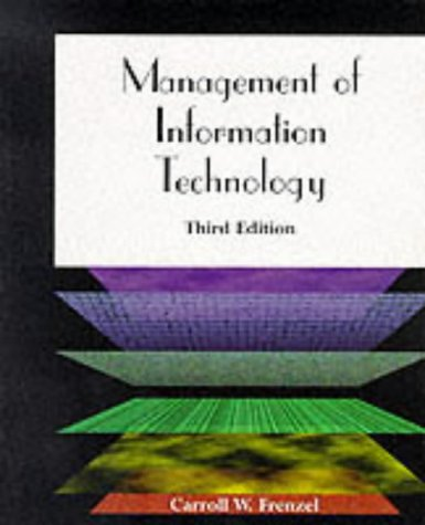 Management of Information Technology  3rd 1999 9780760049907 Front Cover
