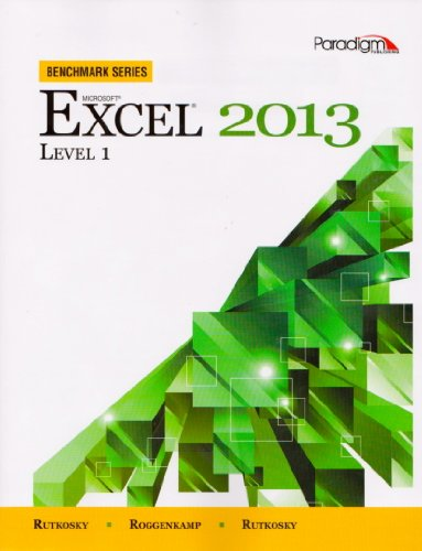 MICROSOFT EXCEL 2013,LEVEL 1-W N/A edition cover