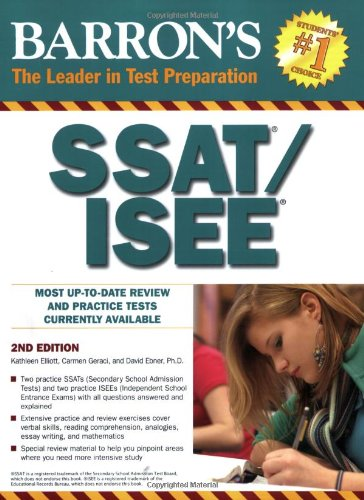 Barron's SSAT/ISEE  2nd 2009 (Revised) edition cover
