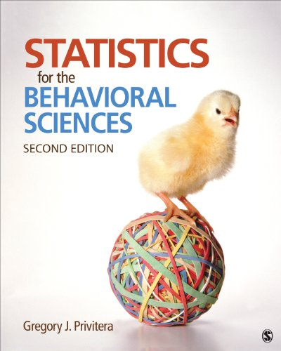 Statistics for the Behavioral Sciences  2nd 2015 9781452286907 Front Cover