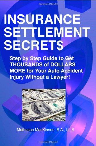 Insurance Settlement Secrets  N/A 9781551806907 Front Cover