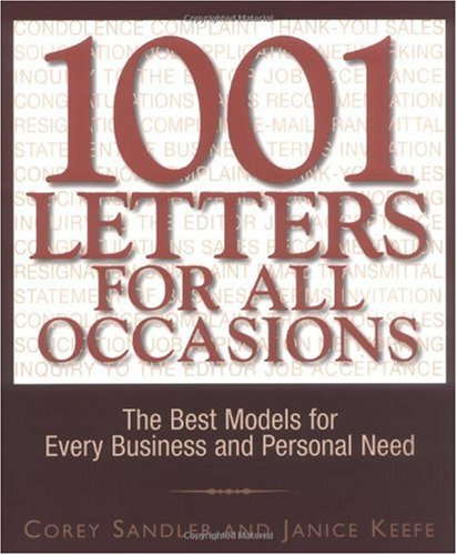 1001 Letters for All Occasions The Best Models for Every Business and Personal Need  2004 edition cover