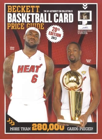 Beckett Basketball Card Price Guide  20th 2012 9781936681907 Front Cover