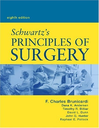 Principles of Surgery  8th 2005 (Revised) 9780071410908 Front Cover