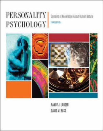 Personality Psychology Domains of Knowledge about Human Nature 3rd 2008 (Revised) edition cover