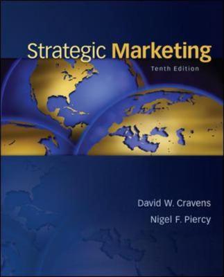Strategic Marketing  10th 2013 edition cover