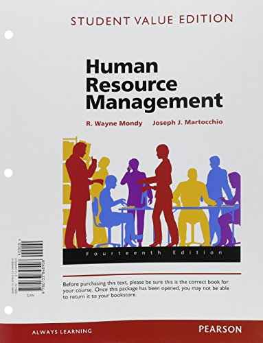 Human Resource Management: Student Value Edition  2015 edition cover