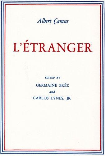 L' Etranger   1956 edition cover