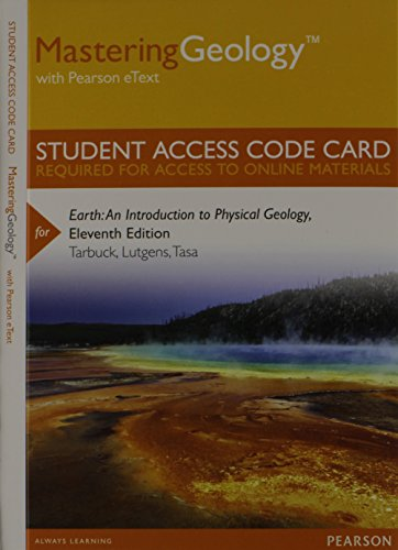 MasteringGeology with Pearson EText -- Standalone Access Card -- for Earth An Introduction to Physical Geology 11th 2014 edition cover