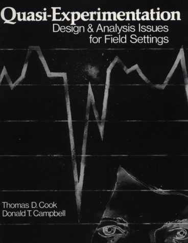 Quasi-Experimentation Design and Analysis Issues for Field Settings  1979 edition cover