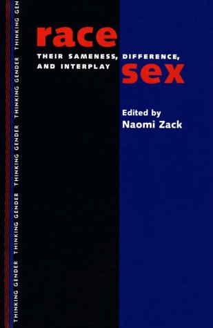 Race Sex Their Sameness, Differences, and Interplay  1997 edition cover