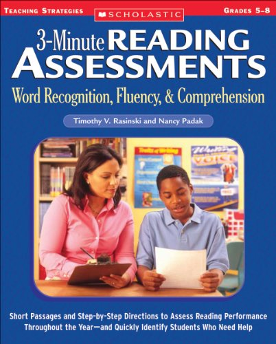 Word Recognition, Fluency, and Comprehension Short Passages and Step-by-Step Directions to Assess Reading Performance Throughout the Year-And Quickly Identify Students Who Need Help  2005 edition cover