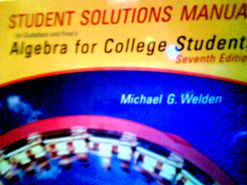 Ssm Algebra F/Coll Stdts  7th 2005 9780534463908 Front Cover