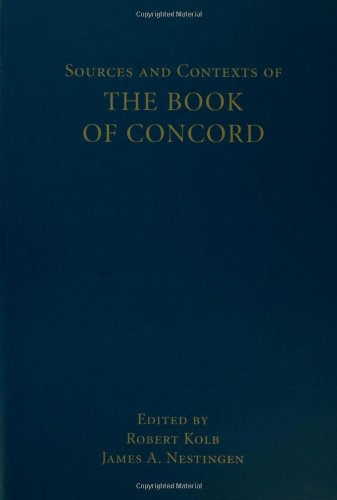 Sources and Contexts of the Book of Concord   2001 edition cover