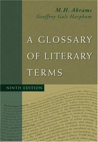 Glossary of Literary Terms  9th 2009 edition cover