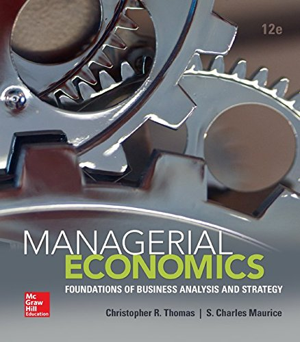 Managerial Economics:   2015 9780078021909 Front Cover