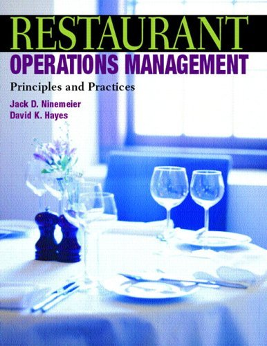 Restaurant Operations Management Principles and Practices  2006 edition cover