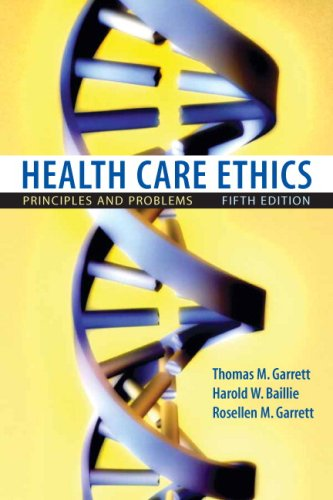 Health Care Ethics Principles and Problems 5th 2010 edition cover
